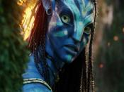 Neytiri As Warrior In Avatar Movie Backgrounds