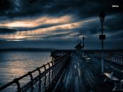 Night Sky Pier Backgrounds