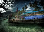Olden Days Boat Backgrounds