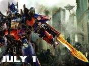 Optimus Prime in Transformers 3 Backgrounds