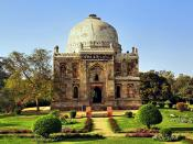 Ornate Tomb Lodi Gardens Delhi India Backgrounds