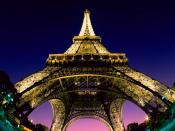 Paris Eiffel Tower Night Lights Backgrounds