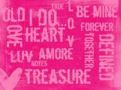 Pink Words Backgrounds