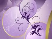 Purple Spring Digital Background Retro Other
