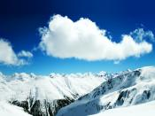 Snow Mountains In Winter Backgrounds