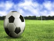 Soccer Ball On Field Backgrounds