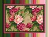 Stripes and Roses Backgrounds