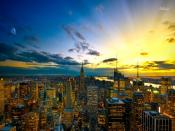 Sunset in New York Backgrounds