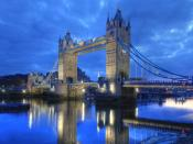 Tower Bridge At Nights Backgrounds