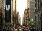 Traffic In Down Town New York Backgrounds