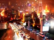 Urban City Nights Backgrounds
