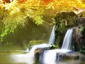 Water Flow In Mountains Backgrounds