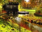 Wooden Lake House Backgrounds