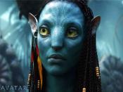 Zoe Saldana As Neytiri In Avatar Backgrounds